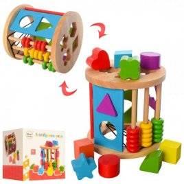 Деревянная игрушка Центр развивающий  сортер+счеты MD 1511