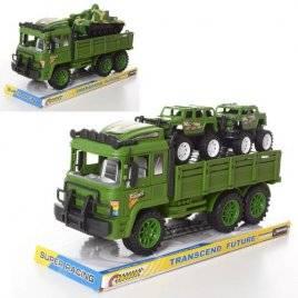Трейлер военный инерционный+ танк или 2 машинки 1522-1-2