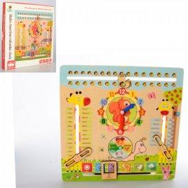 Деревянная игрушка Часы-календарь 1547
