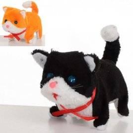 Кот мягкий ходит со звуковыми и  световыми эффектами MP 1579