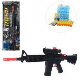 Автомат с водными пулями + мягкие пули-присоски 8 штук M16-2