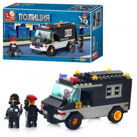 Конструктор полицейская машина 127 деталей М38-В1600 SLUBAN