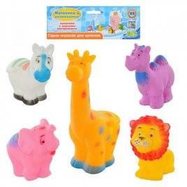 Пищалки животные 5 штук 1603-5 N в кульке
