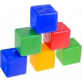 Кубики пластмассовые Радуга 1 10 элементов 1684 Технок, Украина