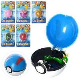Покебол игрушка с покемонами ловушка инерция 16233