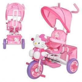 Велосипед с родительской ручкой Hello Kitty M 1661 музыкальный