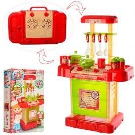 Детская игровая кухня в чемодане красная 16688B