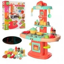 Кухня игровая детская с посудой и продуктами со звуком и светом 16823 LimoToy