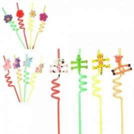 Трубочки-соломка аксессуары для праздника  4 штуки в наборе MK 1693