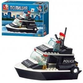 Конструктор Катер Полиция SLUBAN M38-B1700