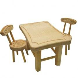 Мебель для кукол из бука Стол и стулья 172070 ТМ Дерево, Украина