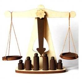 Весы деревянные модель ЕКО 172406 ТМ Дерево