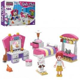 Конструктор для детей Спальня с мебелью и фигурками 134 детали KB 129 LimoToy