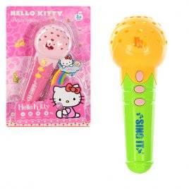 Уценка!Микрофон детский с проектором Hello Kitty розовый 177-1
