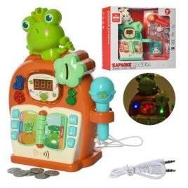 Караоке-машина с микрофоном со световыми эффектами 177-21-22
