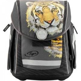 Рюкзак школьний  серый с тигром K18-578S-2