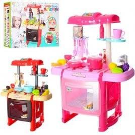 Кухня детская  со звуками и светом розовая или красная RX1800-10