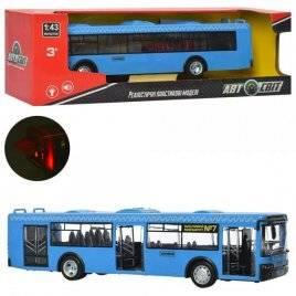 Автобус большой с музыкой, светом и открывающимися дверями AS-1827