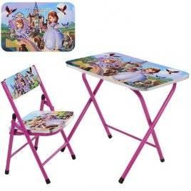 Детский столик и стульчик складные Принцесса София A19-BB