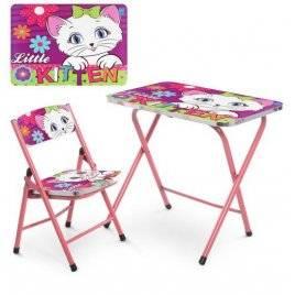 Детский столик и стульчик складные Кошка A19-Kitten