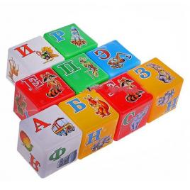 """Кубики пластмассовые средние """"Абетка"""" 1806 Технок, Украина"""
