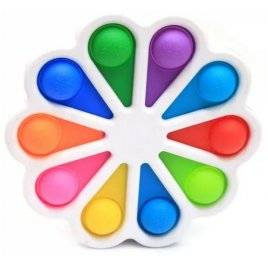 Антистресс игрушка детская Симпл Димпл Pop It Simple Dimple Цветок белая 001