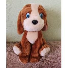 Уценка! Мягкая игрушка Собачка коричневая средняя 2021 сидит