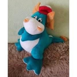 Уценка! Мягкая игрушка Дракончик с карманом на спинке на змейке 2021