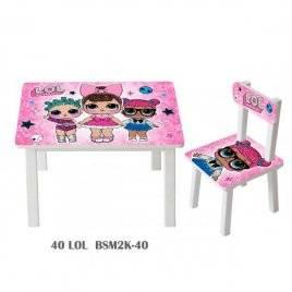 Детский стол и стул для творчества LOL BSM2K-40