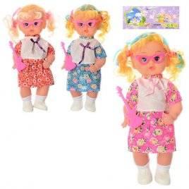Кукла пластиковая музыкальная с очками, гитарой и светом 2007В