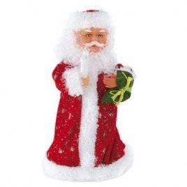 Дед Мороз игрушка с музыкой и светом 2 вида 201-12/60810 в красном