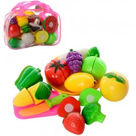 Продукты на липучках и разрезные фрукты 2018 в сумке на змейке