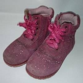 Уценка! Ботинки осенние со стразами розовые 2018
