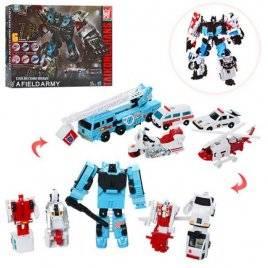 Трансформер 6в1 робот+транспорт H201