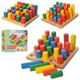 Геометрика деревянная игрушка больше- меньше MD 2024