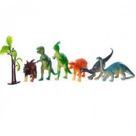 Набор фигурок Динозавры резиновые 2035