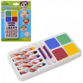 Аквагрим краски 4 цвета +мелки 5 цветов MK 2046