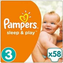 Подгузники Pampers 3 Sleep & Play 5-9 кг 58 шт