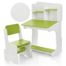 Парта детская растишка белая со стульчиком, полочками FB2071-2