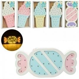 Деревянная игрушка Ночник мороженое или конфета MD 2075