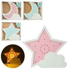 Деревянная игрушка Ночник звездочка или луна MD 2076