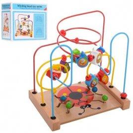 Лабиринт деревянный игрушка на проволоке MD 2084