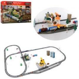 Железная дорога  детская Локомотив со светом, водонапорным узлом и краном  61 деталь 2087