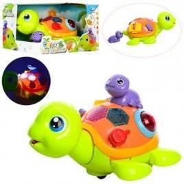 Черепаха с малышом с  музыкой и  светом ездит 2088
