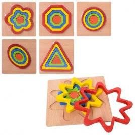 Геометрика деревянная игрушка с пазлами Больше-меньше MD 2090 малая