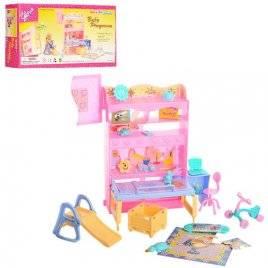 Мебель для кукол Детская комната с горкой 21019 Gloria