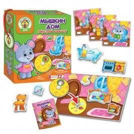 Игра с липучками и подвижными деталями Мышкин дом Vladi toys VT2109-09