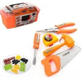 Набор инструментов детских в чемодане 2140 для мальчиков оранжевый