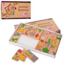 Домино деревянное детское Животные MD 2146 в коробке