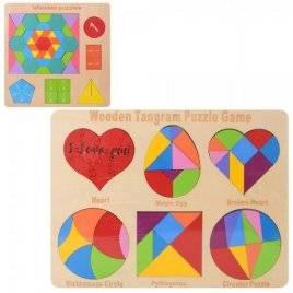 Деревянная игрушка Геометрика Мозаика MD 2163